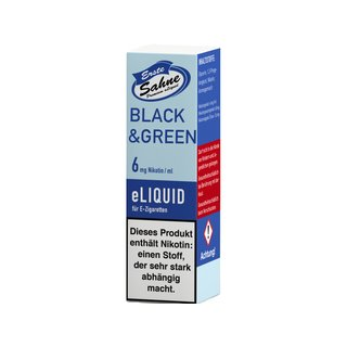 Erste Sahne Liquid 10 ml Black & Green 06 mg/ml