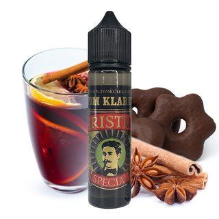 Tom Klarks Liquid 50 ml Christmas 00 mg/ml mit 1x Nikotinshot 10 ml 18 mg/ml