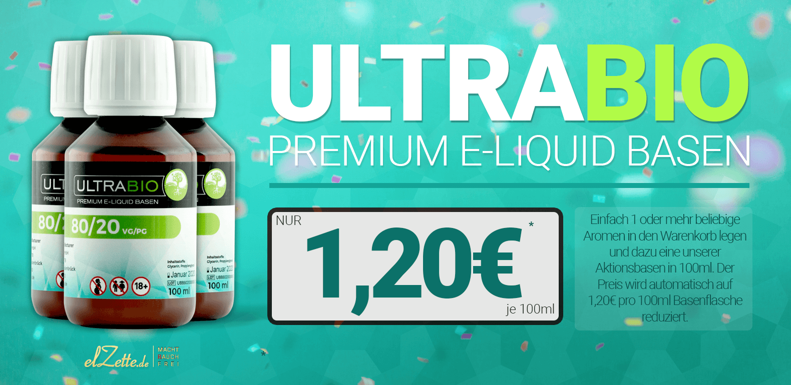 100ml Ultrabio Base ab 1,20 EUR